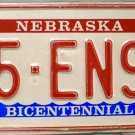 1980 Nebraska Bicentennial License Plate (15-EN90)