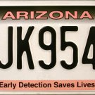 2015 Arizona Early Detection Saves Lives (Breast Cancer) License Plate (JK9546)