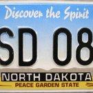 2004 North Dakota License Plate (ESD 086)