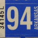 Arkansas: Passenger Plate Year Sticker (1994)