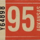 Arkansas: Passenger Plate Year Sticker (1995)