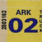 Arkansas: Truck Plate Year Sticker (2002)