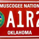 2011 Oklahoma Muscogee Nation License Plate (A1R26)