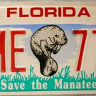 1994 Florida Save the Manatee License Plate (HME 774)