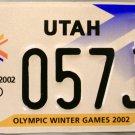 2002 Utah Olympic Winter Games License Plate (057J1)