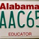 1998 Alabama Educator License Plate (AAC657)