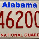 1995 Alabama National Guard License Plate (46200)