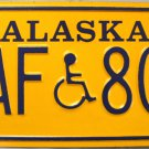 1993 Alaska Disabled Wheelchair License Plate (HAF 803)