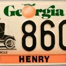 1996 Georgia Antique Vehicle License Plate (8606)