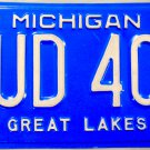 1998 Michigan License Plate (NUD 401)