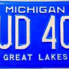 1998 Michigan License Plate (NUD 401)