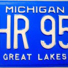 1999 Michigan License Plate (QHR 957)