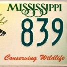 2002 Mississippi Conserving Wildlife - Deer License Plate (8398 WD)