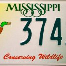 Mississippi Conserving Wildlife - Duck License Plate (3741 WM)