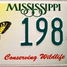 2002 Mississippi Conserving Wildlife - Butterfly License Plate (1984 WY)
