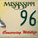 2002 Mississippi Conserving Wildlife - Trout License Plate (967 WS)