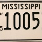 Mississippi Antique Car License Plate (100536)