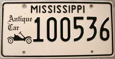 Mississippi Antique Car License Plate (100536)