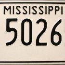 Mississippi Antique Truck License Plate (502657)