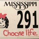 2005 Mississippi Choose Life License Plate (291 CL)