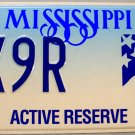 1998 Mississippi Active Reserve License Plate (WX9R)