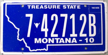 2010 Montana License Plate (7-42712B)