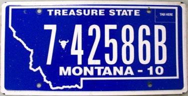 2010 Montana License Plate (7-42586B)