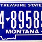 2010 Montana License Plate (4-89585A)