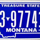 2016 Montana License Plate (3-97741B)