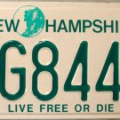 1999 New Hampshire License Plate (AG8444)