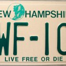 1999 New Hampshire License Plate (CWF-101)