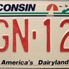 1994 Wisconsin License Plate (KGN-121)