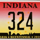 2016 Ft Wayne, Indiana ALPCA 62nd Convention License Plate (324)