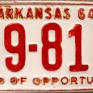 1964 Arkansas License Plate (69-817)