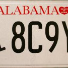 "2014 Alabama Disabled ""Wheelchair"" License Plate (8C9Y7)"