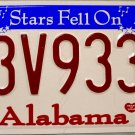 2007 Alabama License Plate (63V933A)