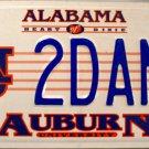 2007 Alabama: Auburn University License Plate (2DANZ)