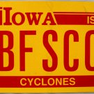 2015 Iowa: Iowa State University License Plate (BFSCO)