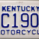 2015 Kentucky Motorcycle License Plate (AC190)