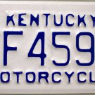 2003 Kentucky Motorcycle License Plate (FF459)