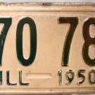 1950 Illinois License Plate (170 786)
