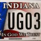 2015 Indiana In God We Trust License Plate (UG0320)