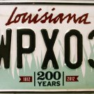 2016 Louisiana License Plate (WPX034)