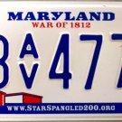2016 Maryland License Plate (3AV4773)