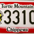 2016 North Dakota Turtle Mountain Band of Chippewa License Plate (33104)
