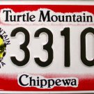2016 North Dakota Turtle Mountain Band Of Chippewa License Plate (33102)