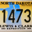 2015 North Dakota Lewis & Clark License Plate (LC 14739)