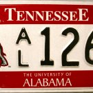 2008 Tennessee: University of Alabama License Plate (AL 1269)