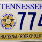Tennessee Fraternal Order of Police License Plate (7747)