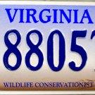 2007 Virginia Wildlife Conservationist License Plate (8805TK)